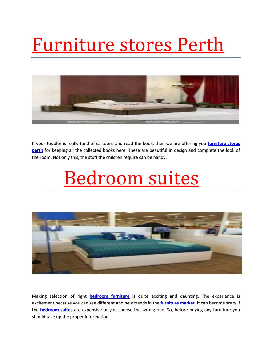 Perth Furniture Shops Furniture Stores Perth By Ashok Saraswat Issuu