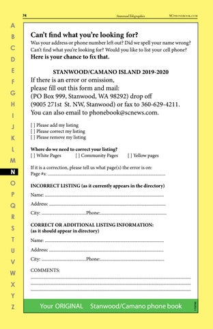 2018-19 Stanwood Camano phonebook by Skagit Publishing - issuu