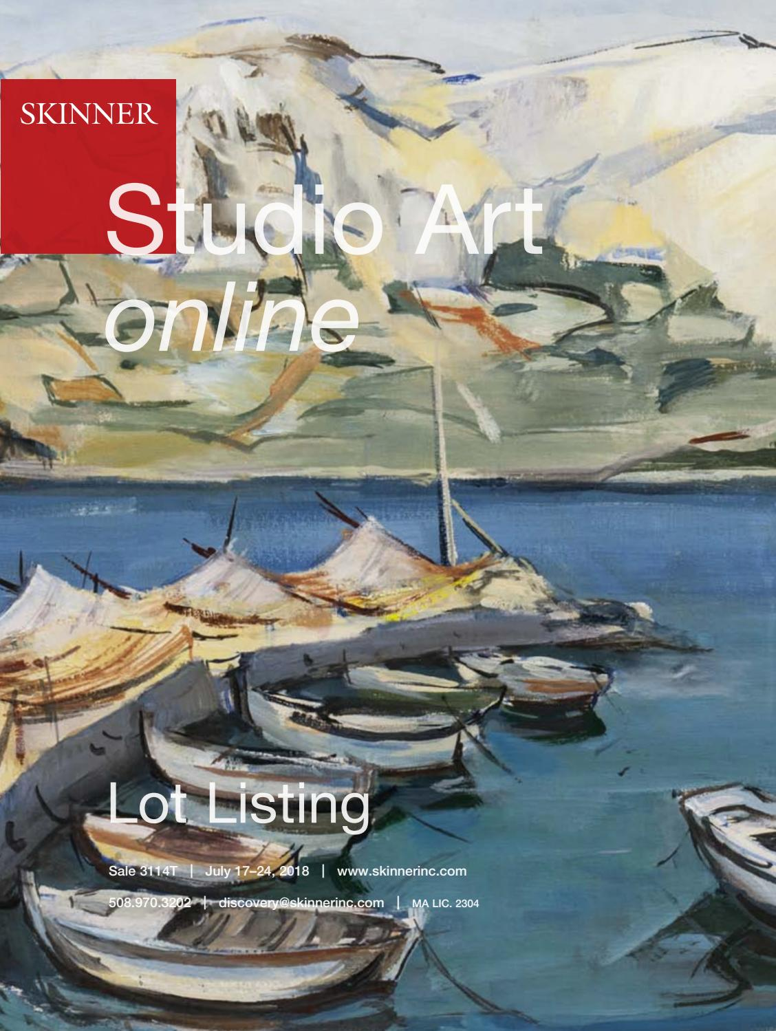 Wiegand Sylt Studio Art Online | Skinner Auction 3114t By Skinner, Inc. - Issuu