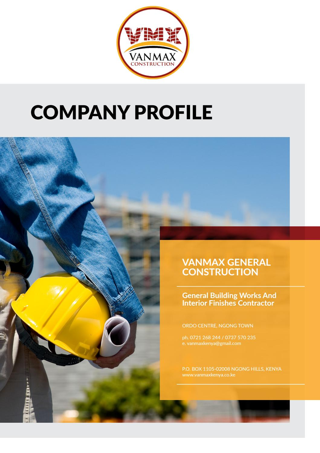 Vanmax Company Profile By Boni Gor Issuu