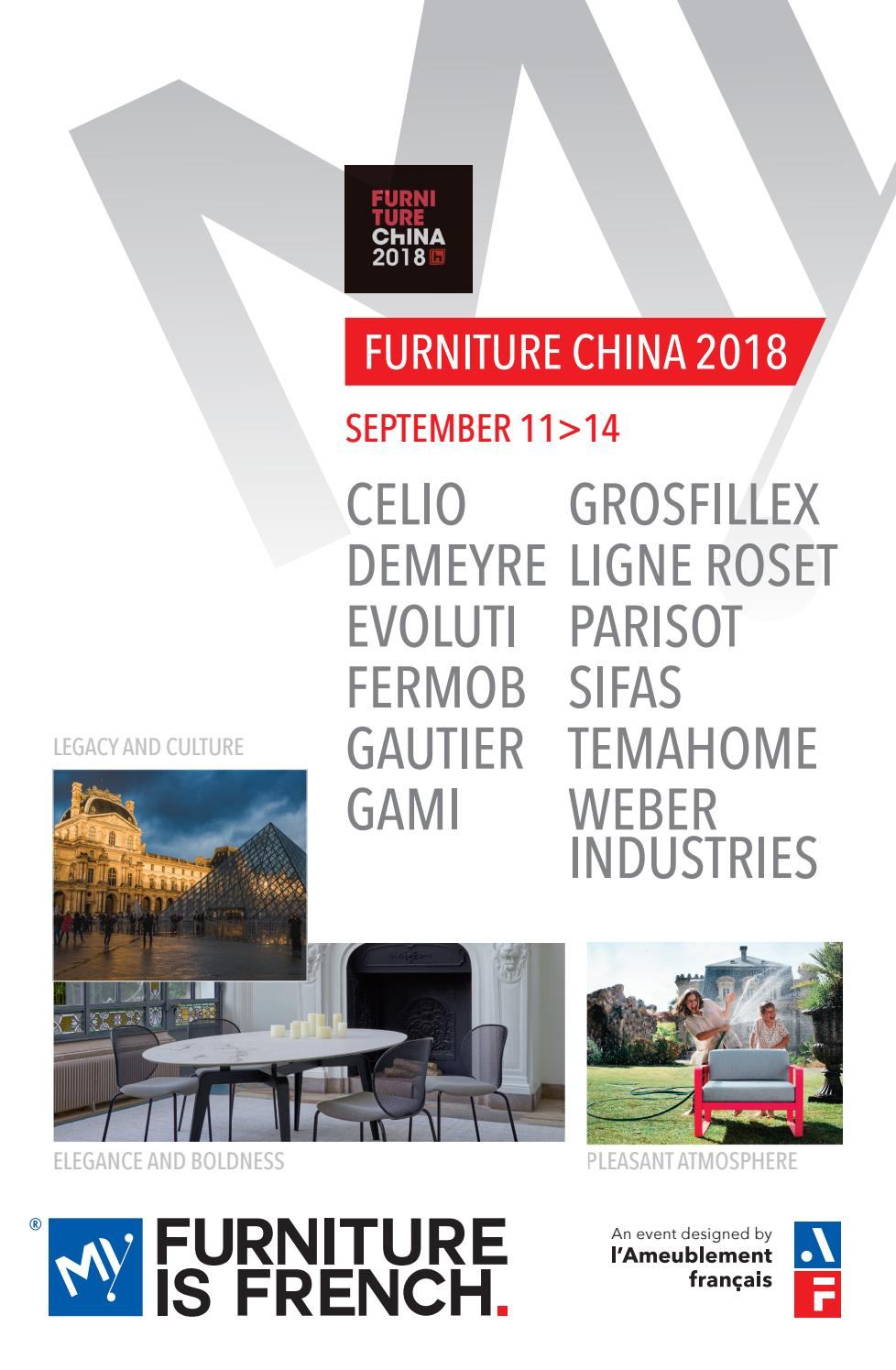 Furniture China 2018 11 14 September My Furniture Is French By Stephanie Guillot Issuu