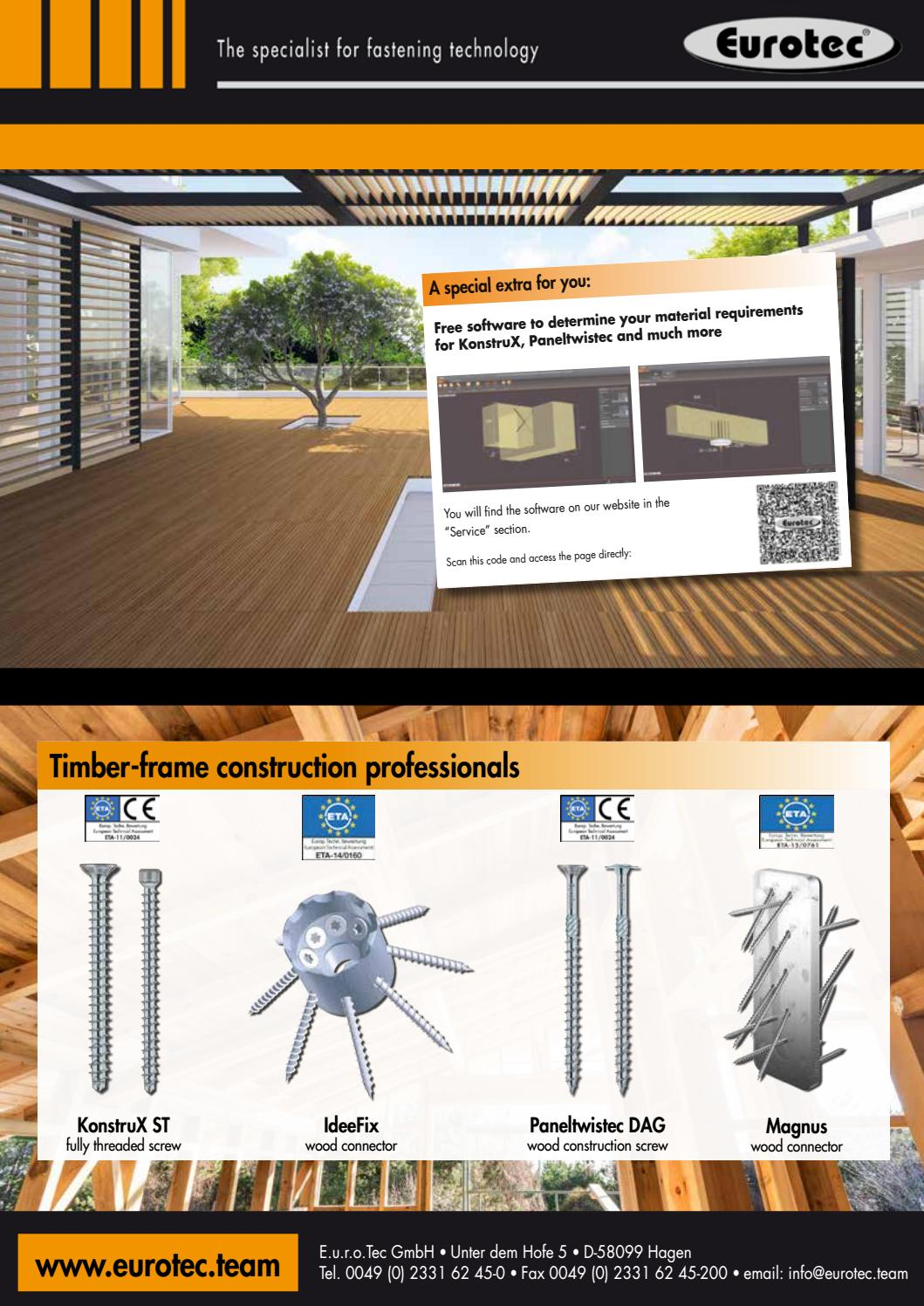 Eurotec Hagen Structural Timber Magazine Issue 16 Summer