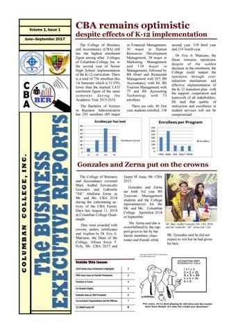 CBA\u0027s The Business Executive Reports (Vol 1 No 1) - Columban