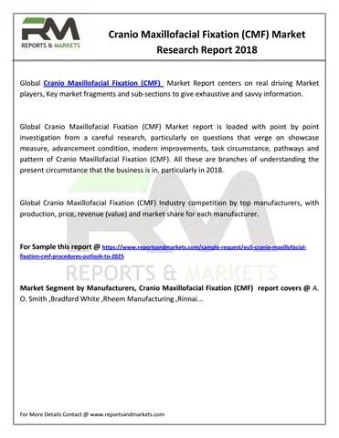 Cranio Maxillofacial Fixation (CMF) Market - Leading Players
