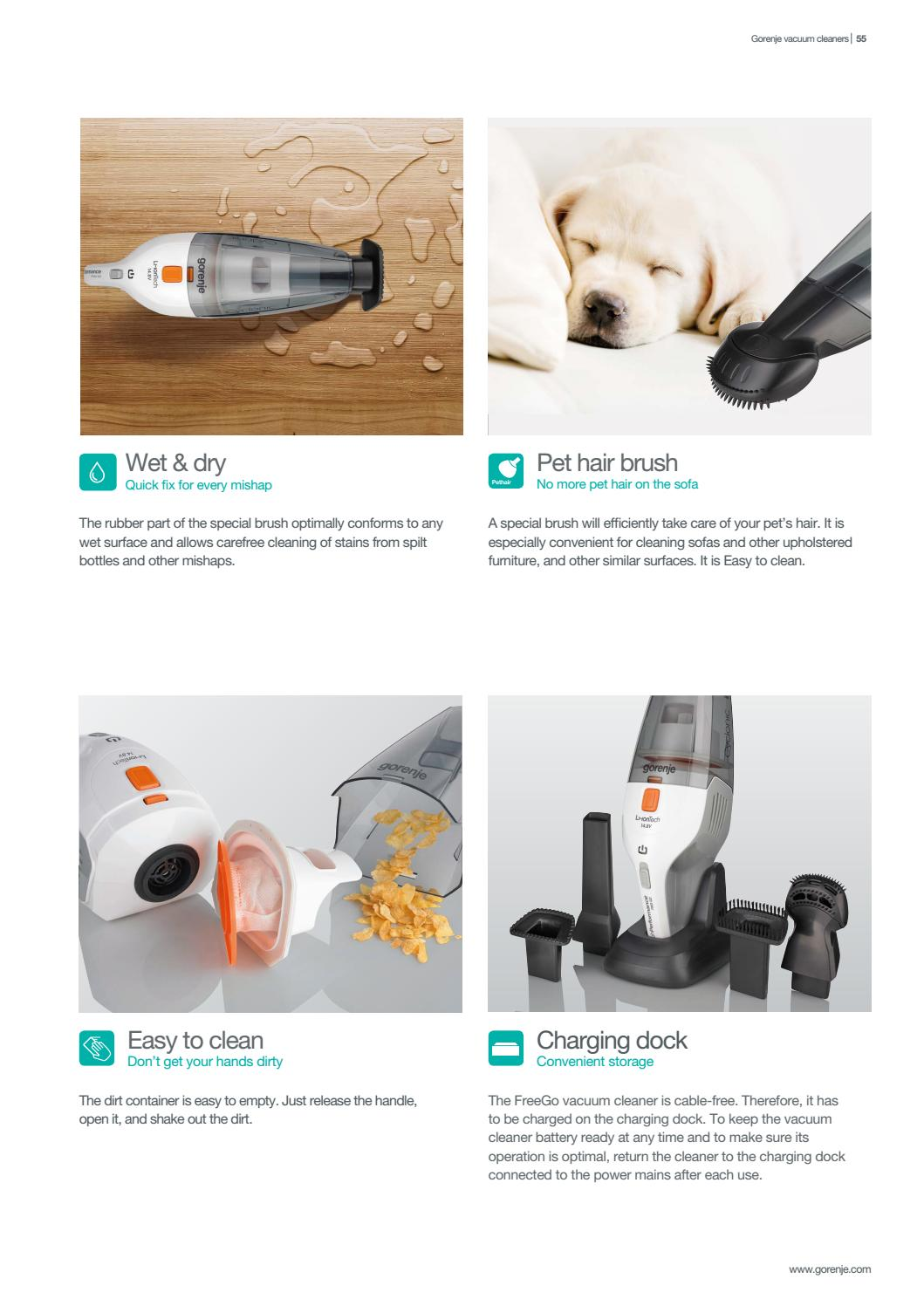 Sofa Vacuum Cleaner Brush Gorenje Vacuum Cleaners Catalogue 2018 By Gorenje D D Issuu