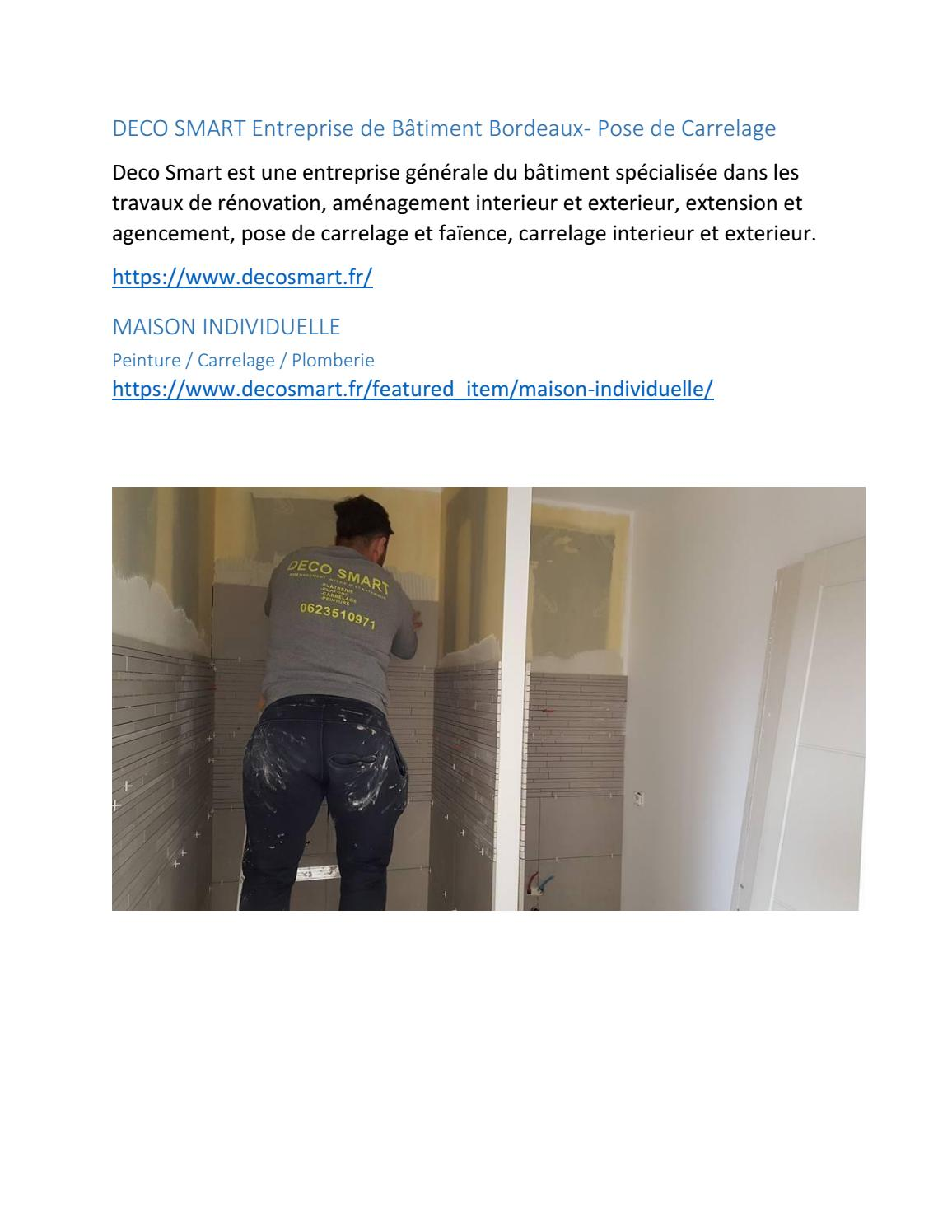 Carrelage Special Renovation Maison Individuelle By Deco Smart Issuu