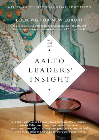 Aalto Leaders\u0027 Insight, Vol 7 Fall 2018 by Räty-Salovaara-Blåfield