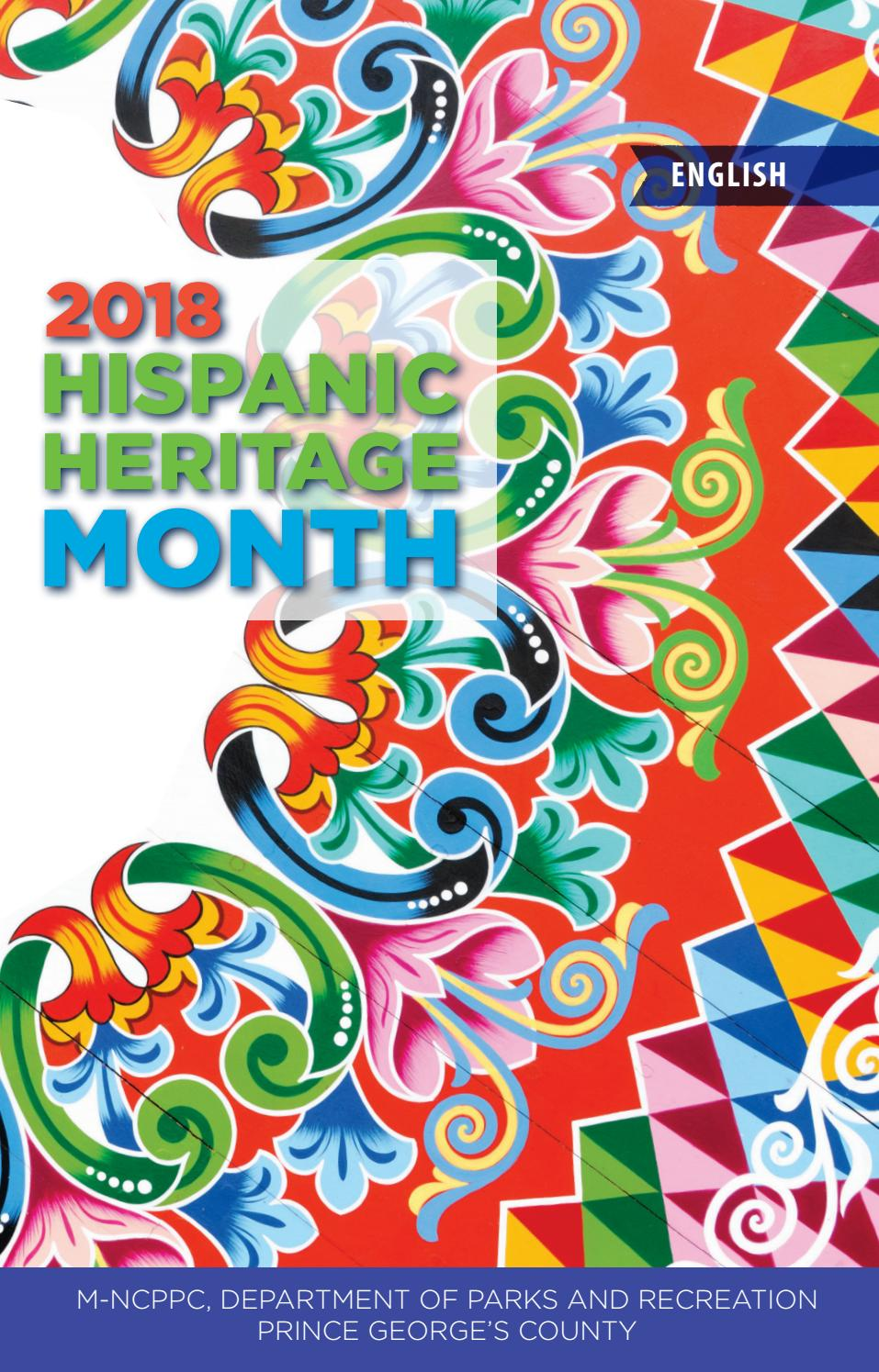 Arte De Vivir Meaning In English 2018 Hispanic Heritage Month Brochure By M Ncppc Department Of
