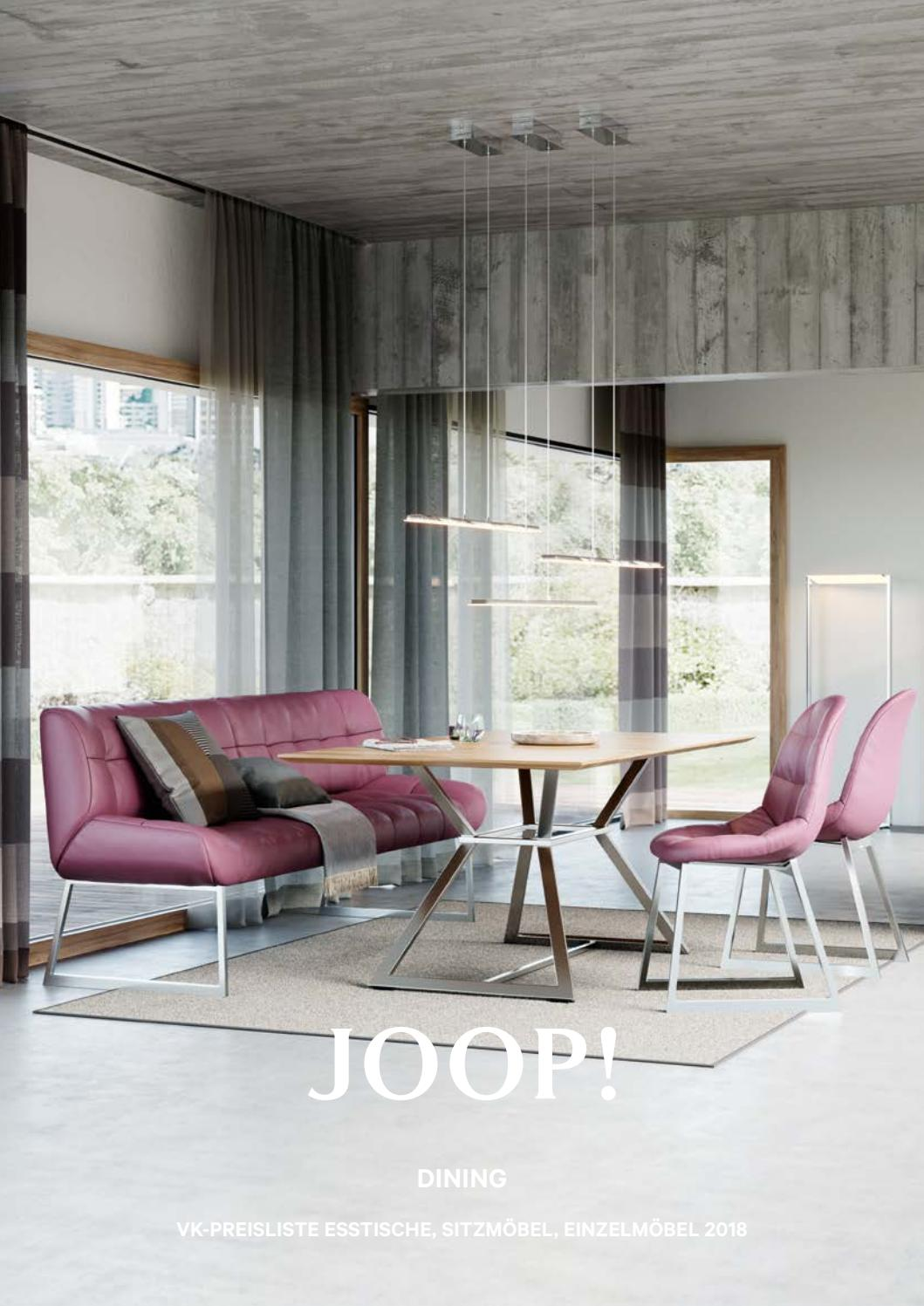 Glastür Metallrahmen Joop Dinning Kollektion 2018