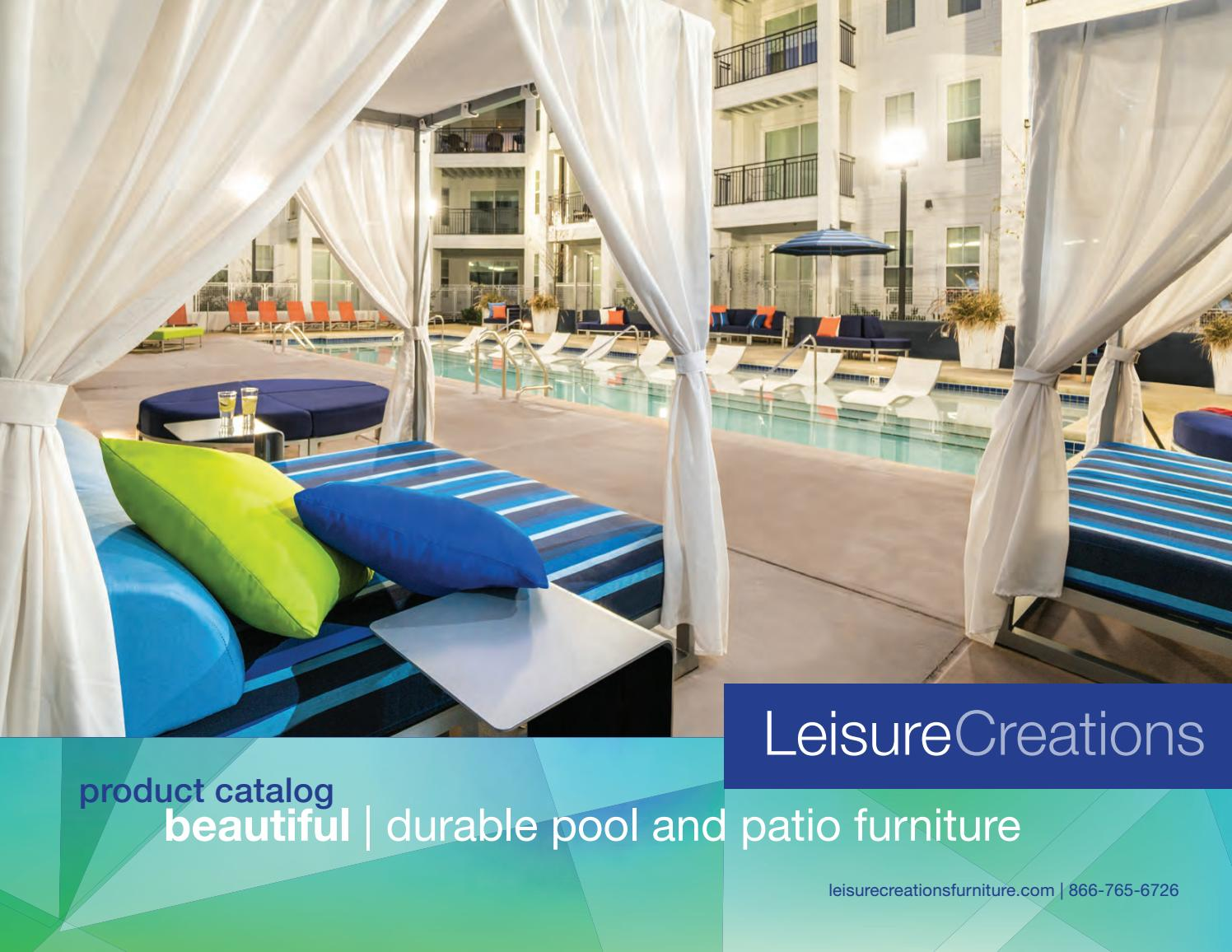 2018 Leisure Creations Furniture Catalog By Leisure Creations Issuu