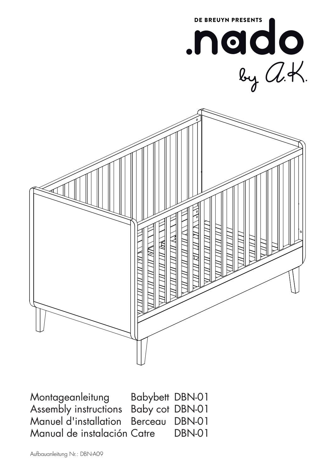 Babybett Aufbauanleitung Nado Babybed 70x140 Assembly Instruction By Abitare Kids - Issuu