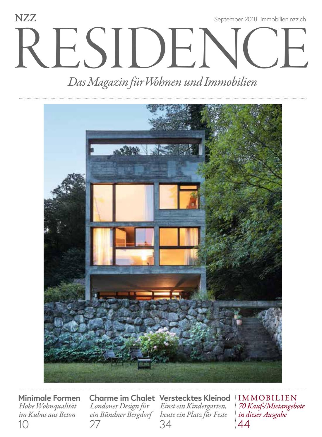 Innendesign Putz Residence September 2018 By Nzz Residence Issuu