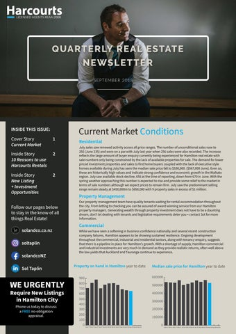 Solco Quarterly Real Estate Newsletter - September 2018 by Sol