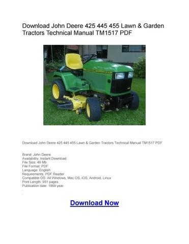 John Deere 425 Tractor Wiring Diagrams Wiring Schematic Diagram