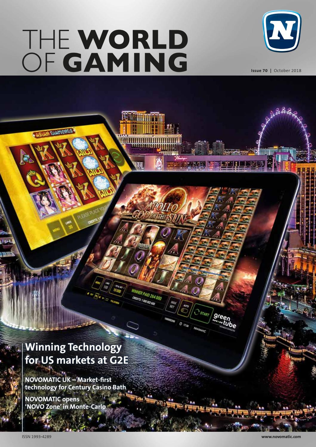 Novomatic The World Of Gaming Issue 70 English German By Novomatic Gaming Industries Issuu