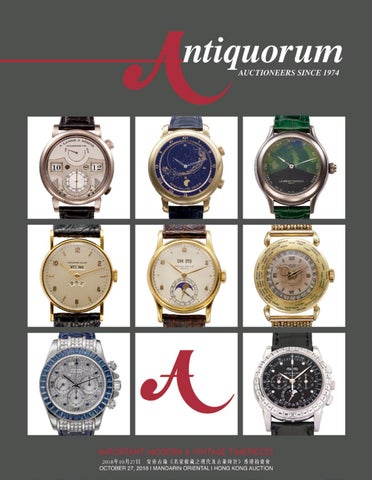HONG KONG AUCTION, Important Modern  Vintage Timepieces by