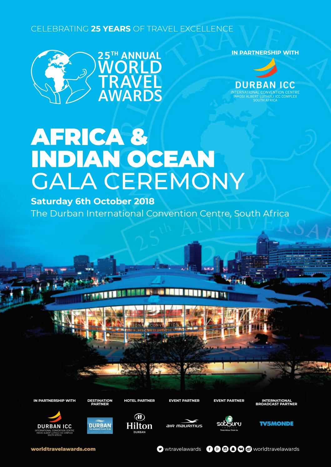 World Travel Awards Africa Indian Ocean Gala Ceremony 2018 By World Travel Awards Issuu