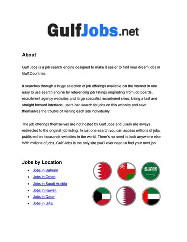GULF JOBS You\u0027re all in one Gulf job site by jobsingulfuae - issuu