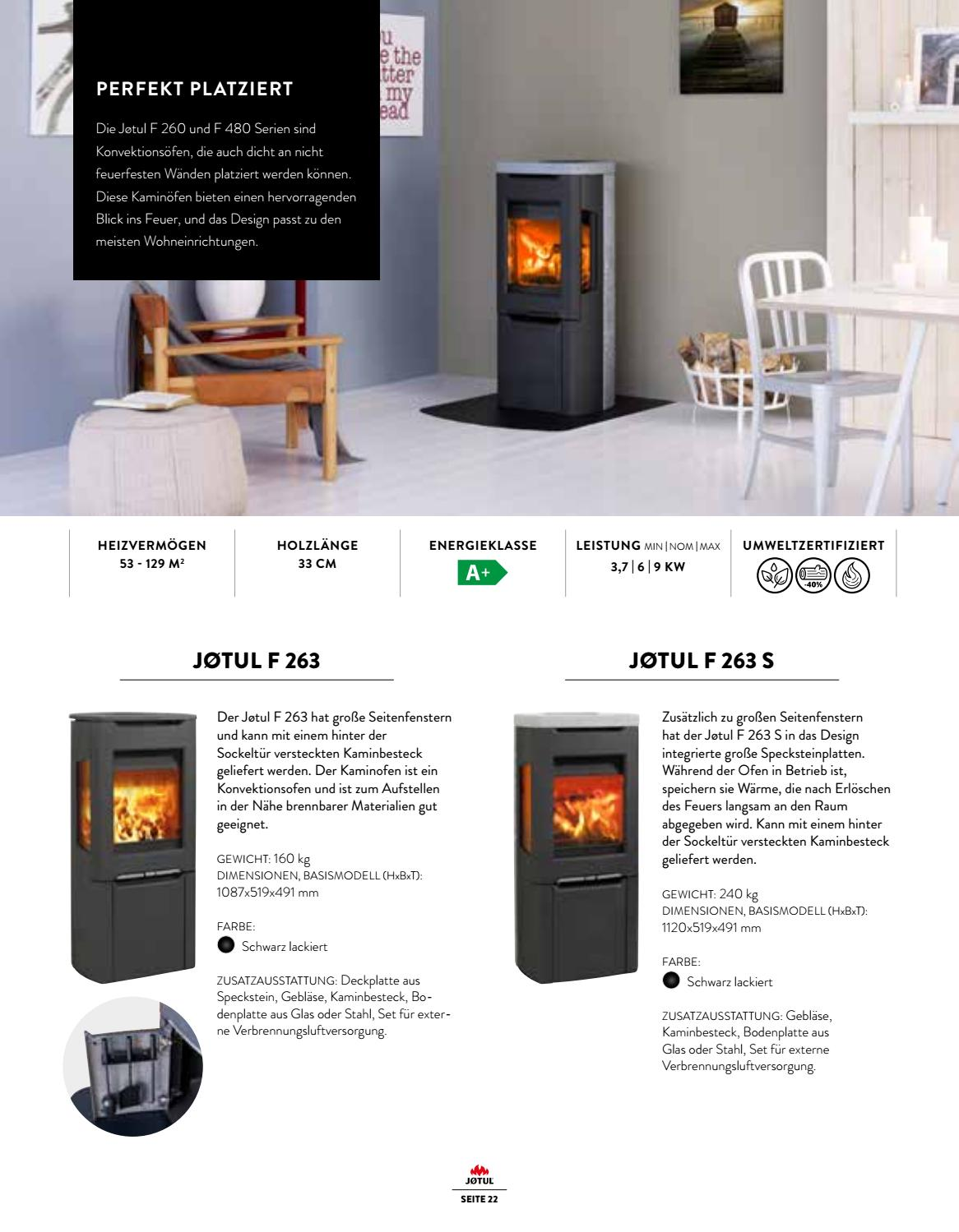 Kaminofen Gewicht Jotul 2019 By Brunner Gmbh Issuu