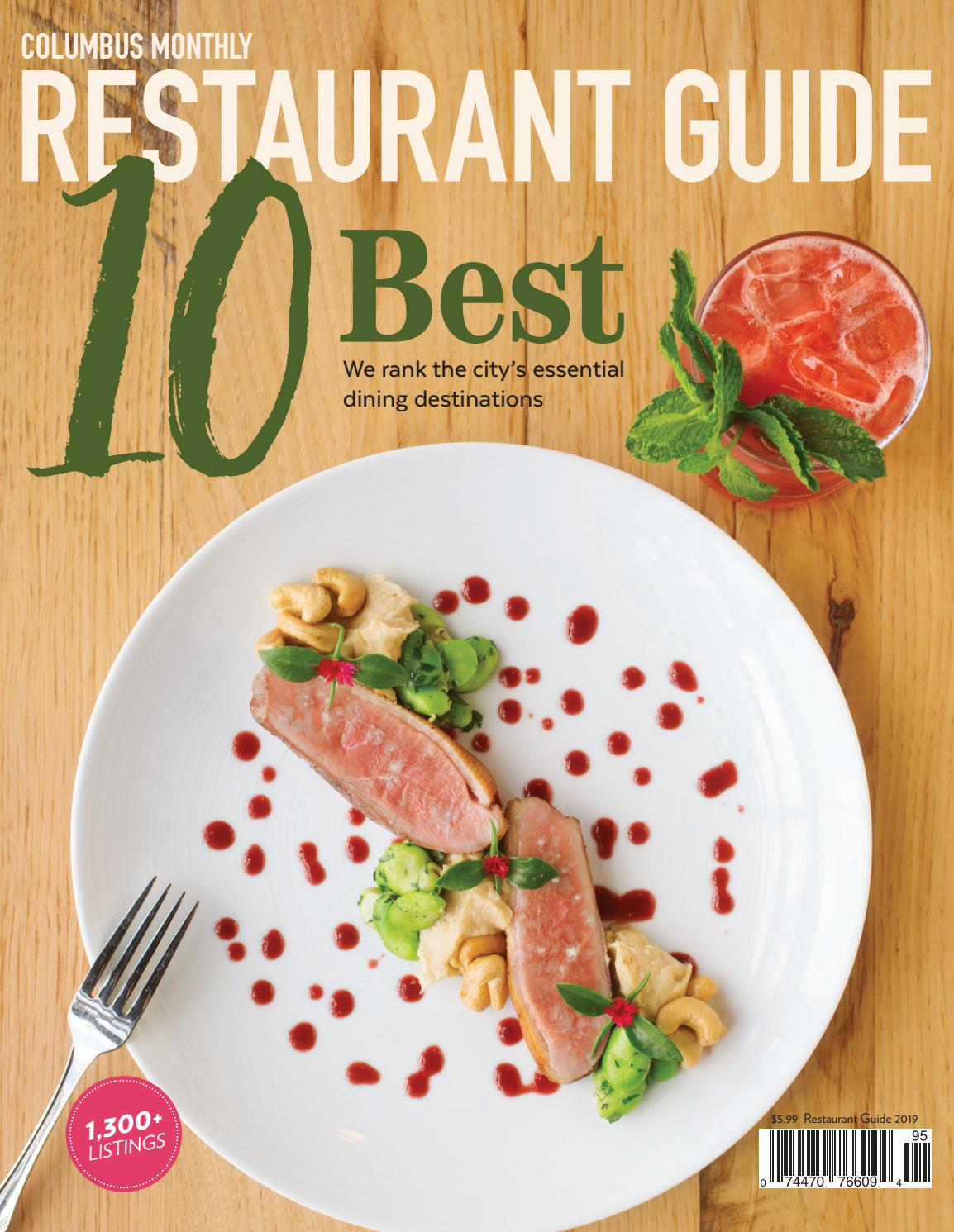 Rossini Cucina Italiana Ridgeland Menu 2019 Columbus Monthly Restaurant Guide
