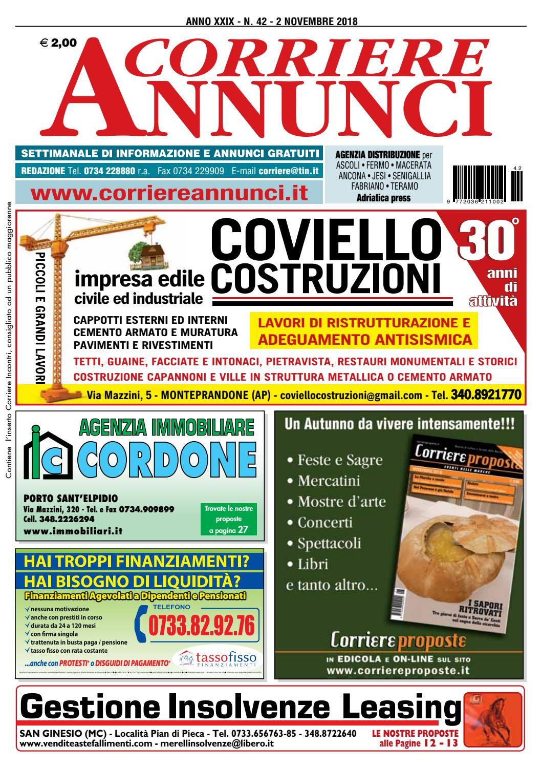 Materassi Vitha Group Corriere 42 2018