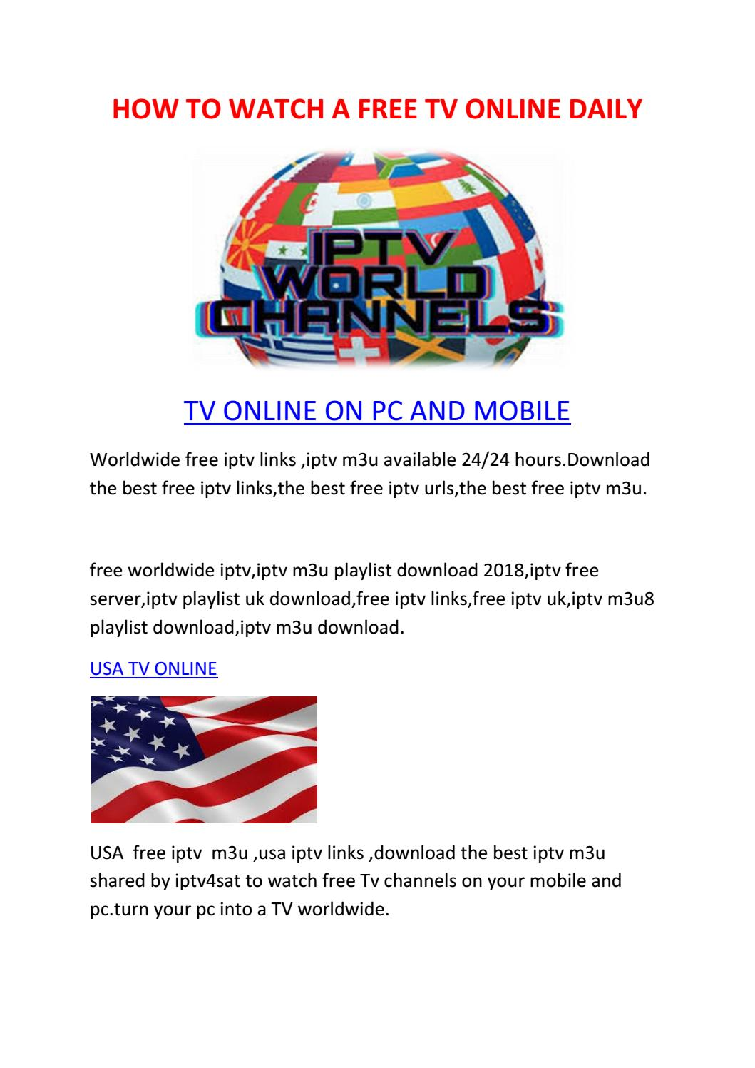 Smart Iptv Url Links How To Watch A Free Tv Online Daily By Smart Iptv Issuu