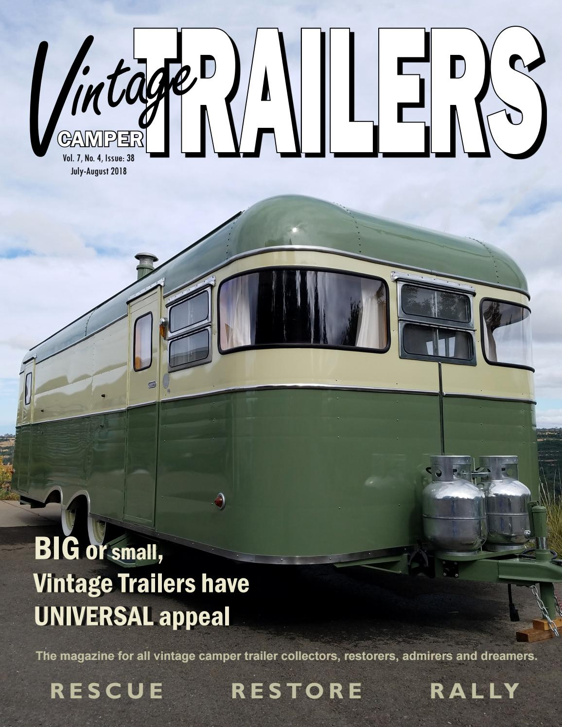 Bad Bike Beach Vintage Side The Vintage Camper Trailers Magazine 38 By Vintage Camper