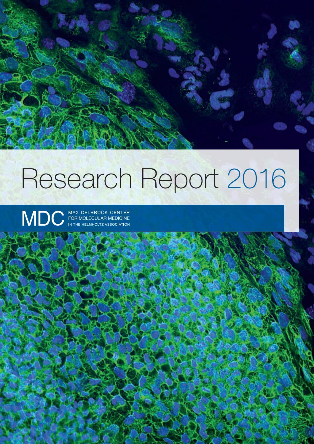 Research Report 2016 By Max Delbrück Center For Molecular Medicine Issuu