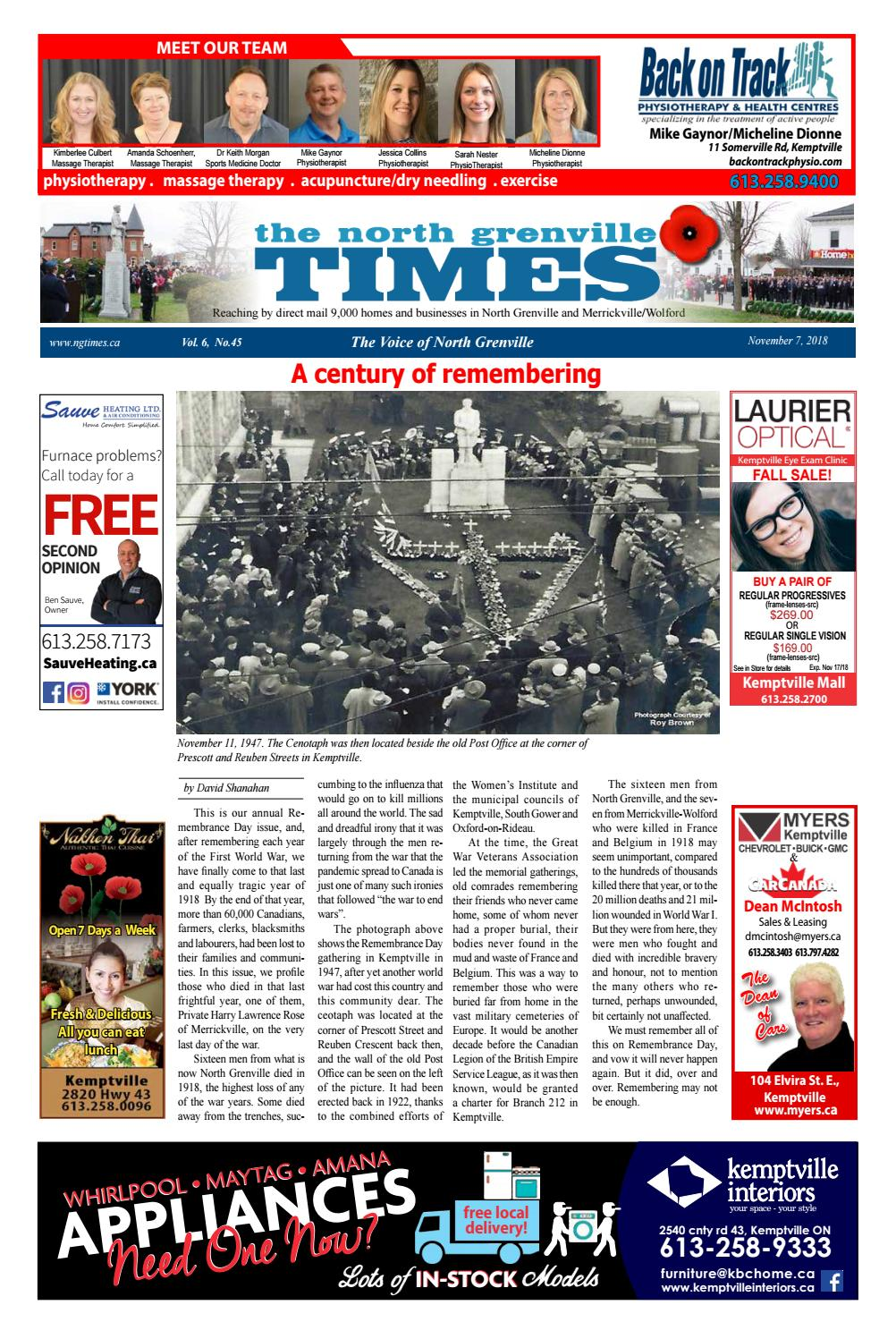 Salon De Massage Amiens Issue 45 2018 November 7 Ng Times By The North Grenville Times Issuu
