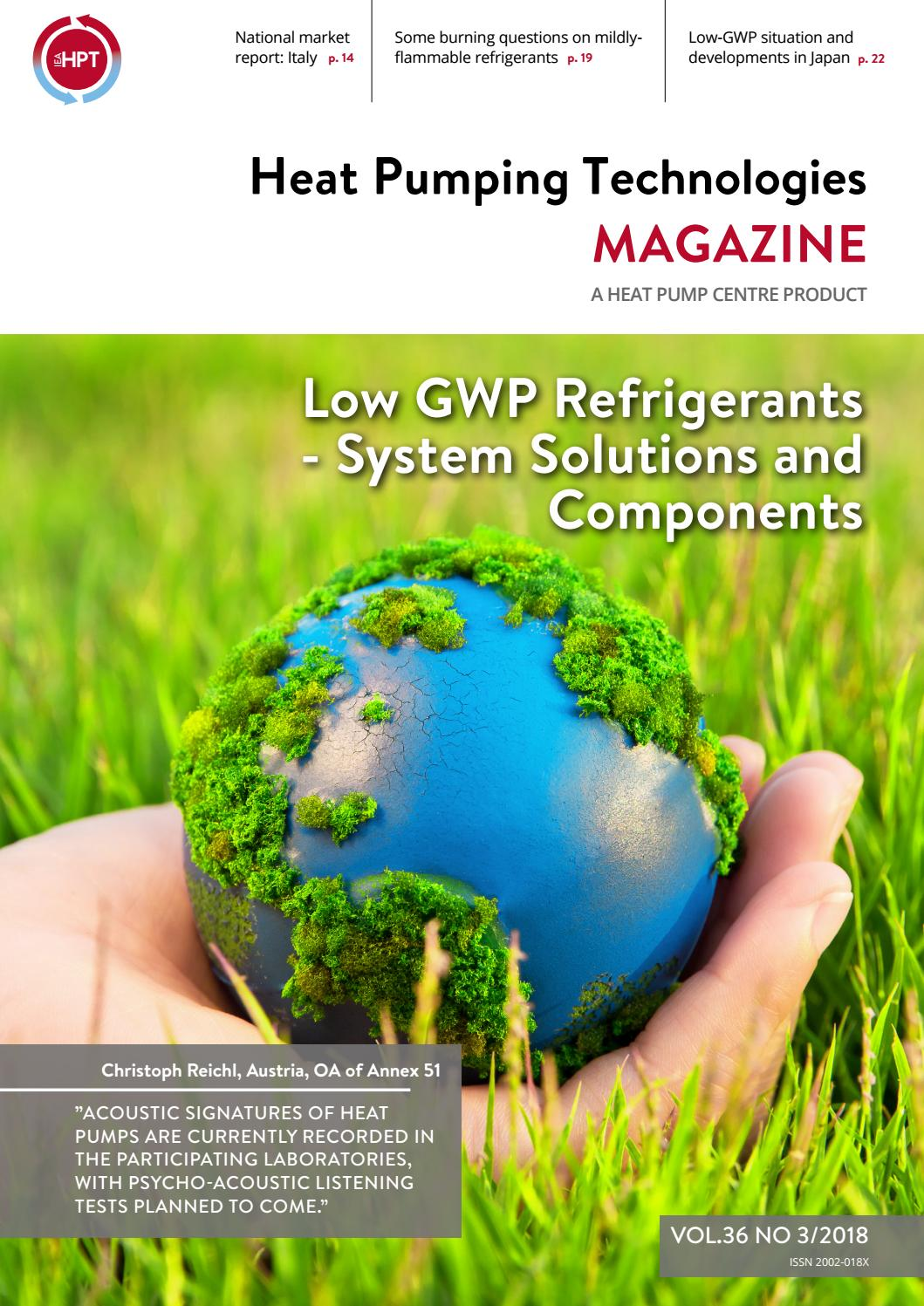 Pool Wärmepumpe Green Heat Inverter 10 5 Kw Heat Pumping Technologies Low Gwp Refrigerants Hpt Magazine Vol 36 No 3 2018