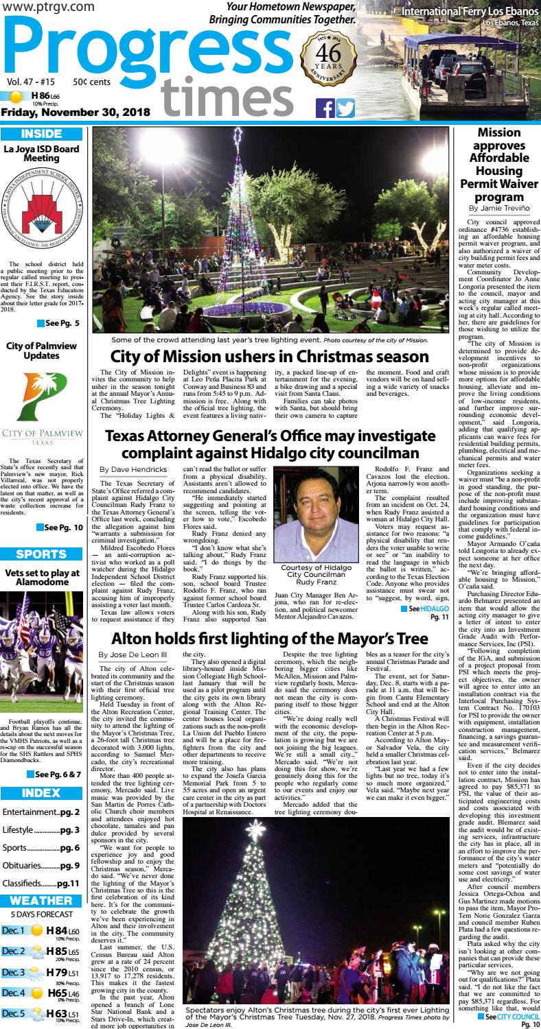 Friday November 30 2018 Pt Issue By Progress Times Issuu - Chapa Marina Precios