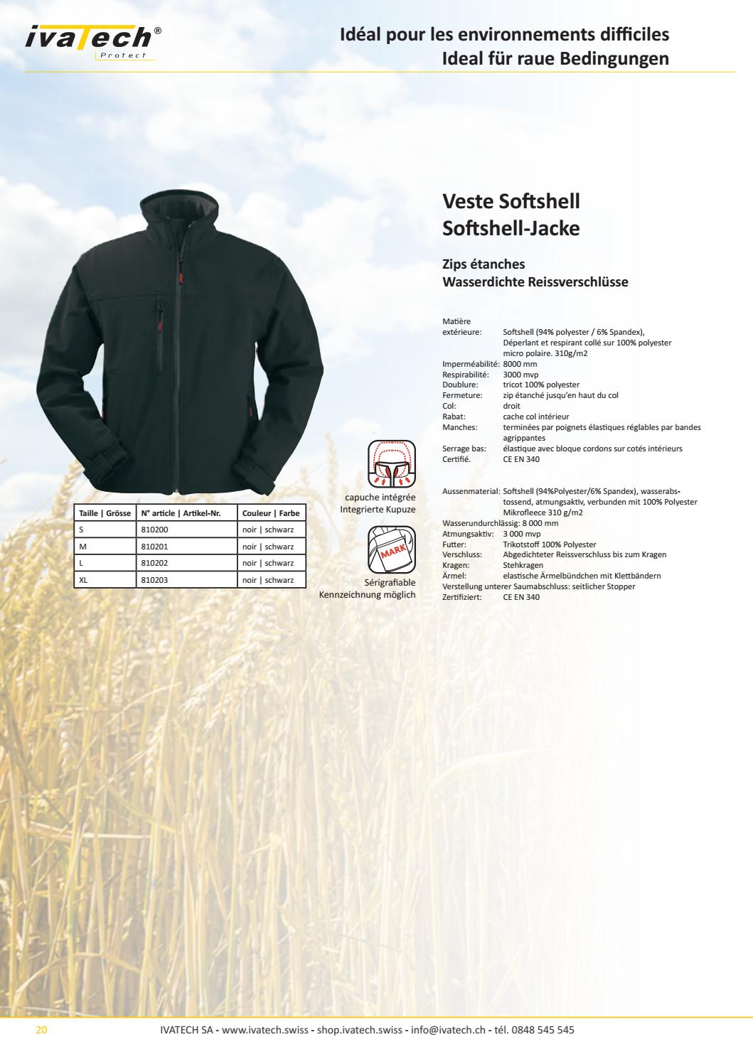 Raue Shop Catalogue Ivatech Protect Workwear Fr De By Ivatech Sa Issuu