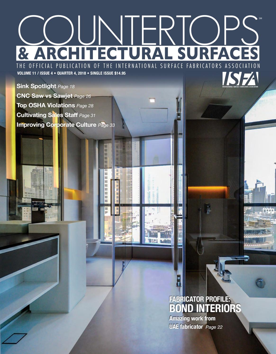 Isfa S Countertops Architectural Surfaces Vol 11 Issue 4 Q4 2018 By Isfa Issuu