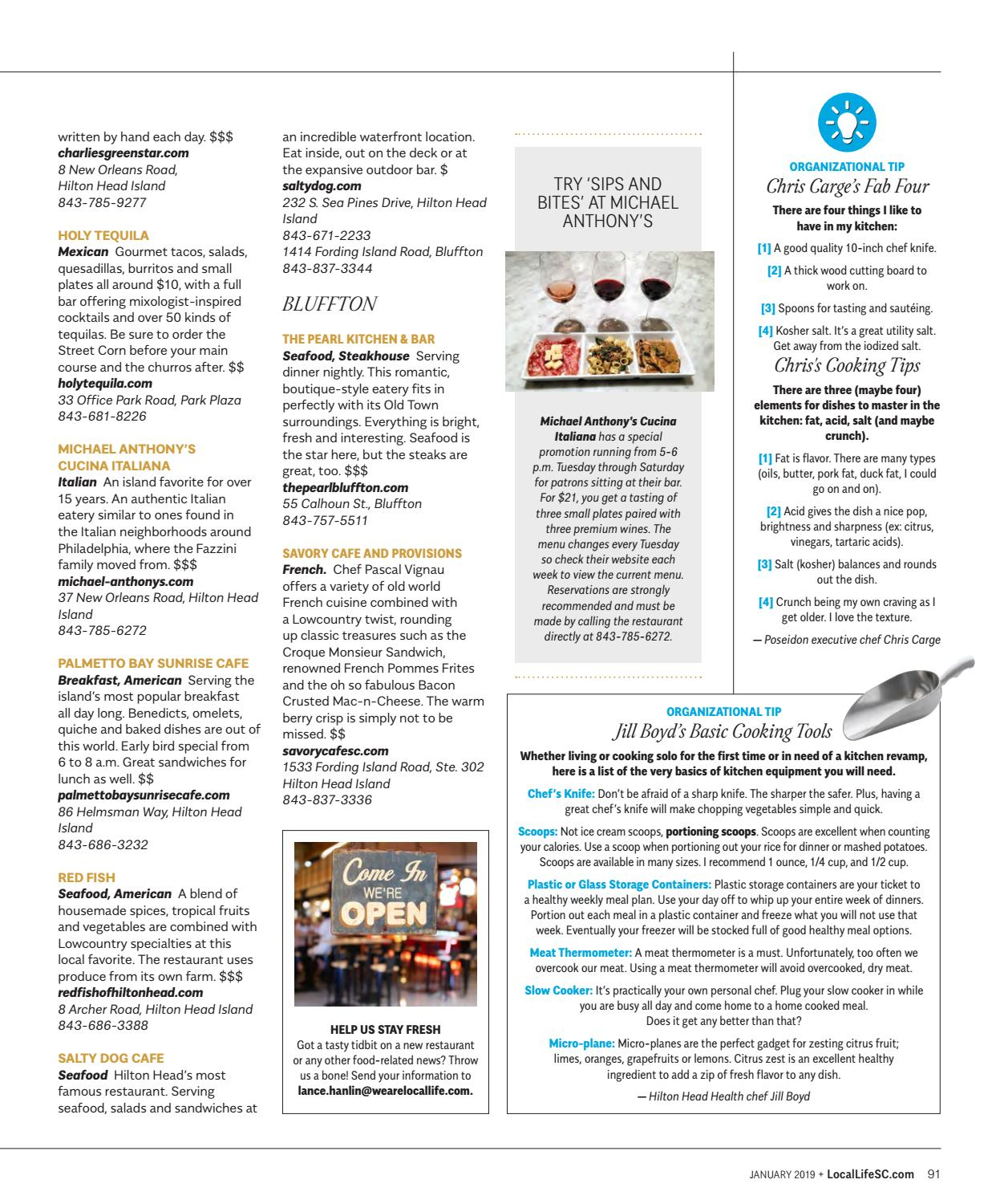Cucina Restaurant Orleans Local Life Magazine January 2019 By Locallife Issuu