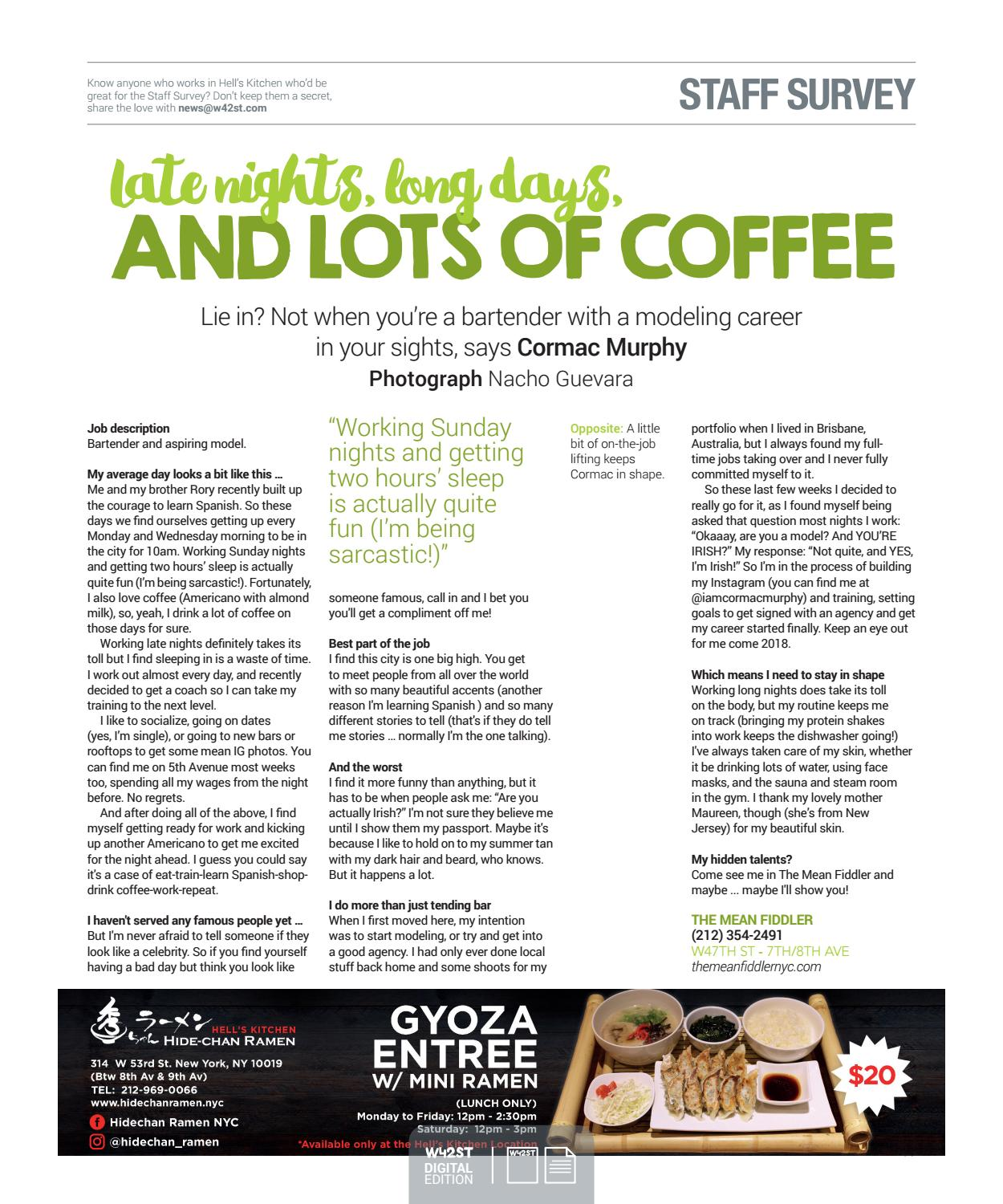Americano Coffee With Almond Milk W42st Issue 36 The Ho Ho Holidays Issue By W42st
