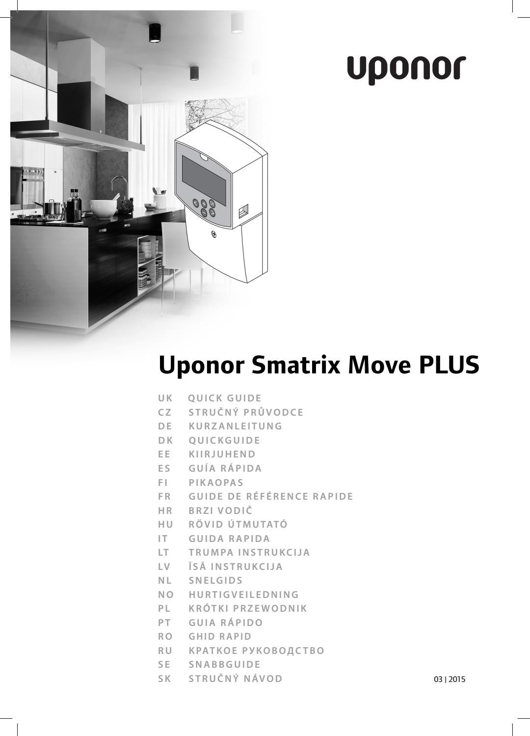 Uponor Qg Smatrix Move Plus Int 1068128 201503 By Uponor Germany Issuu