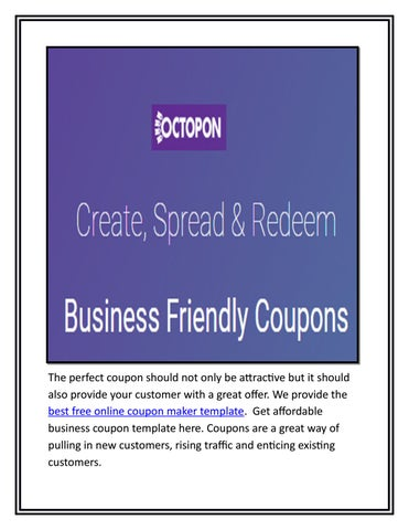 Affordable business coupon template by Octopon Inc - issuu