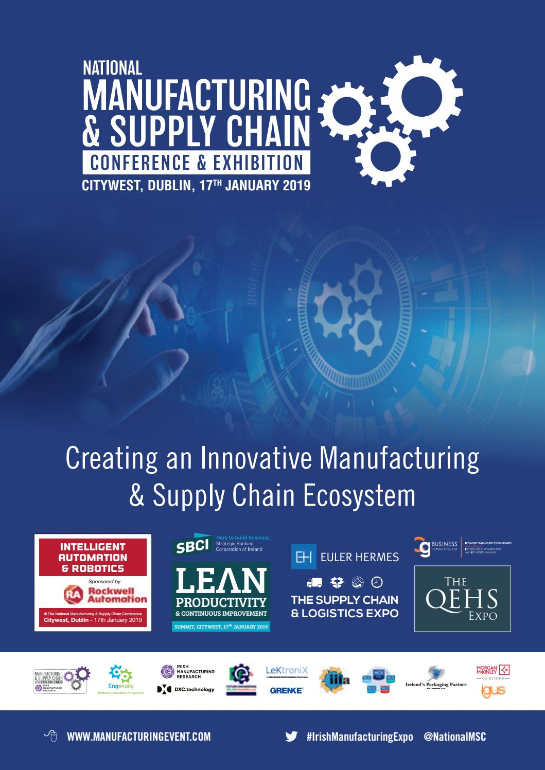 Cash Pool Flensburg National Manufacturing Supply Chain Conference Exhibition 2019