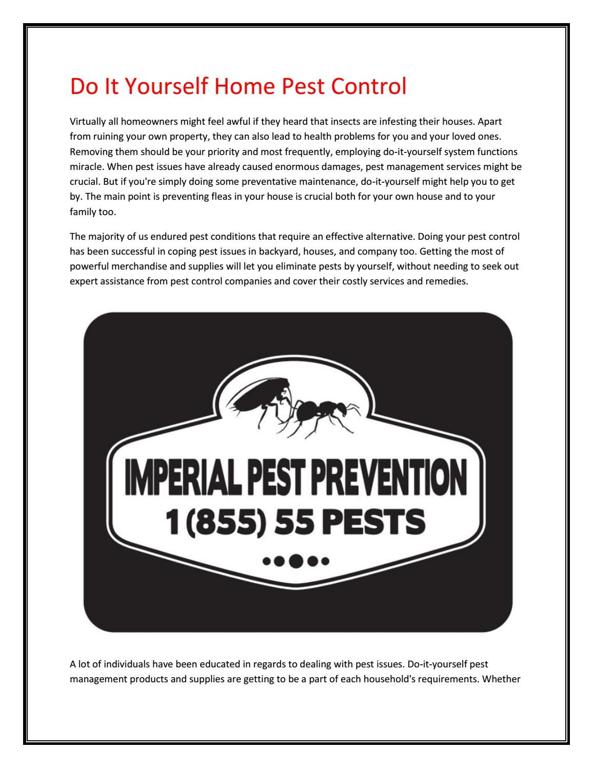 Diy Pest Control Supplies Pest Control New Smyrna Beach By Marvincain Issuu