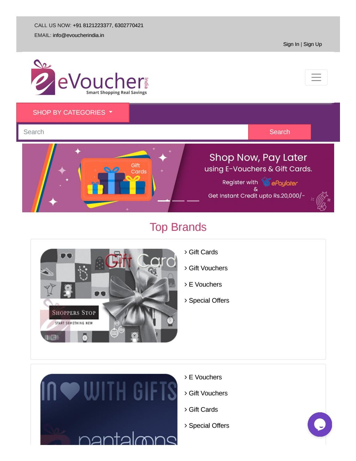 Email Gift Vouchers Buy Gift Vouchers Online Gift Cards Online E Gift Vouchers In India Evoucher India