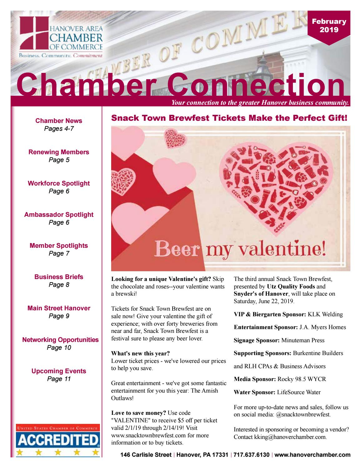 La Cucina Restaurant Hanover Pa February 2019 Newsletter By Hanover Area Chamber Of Commerce