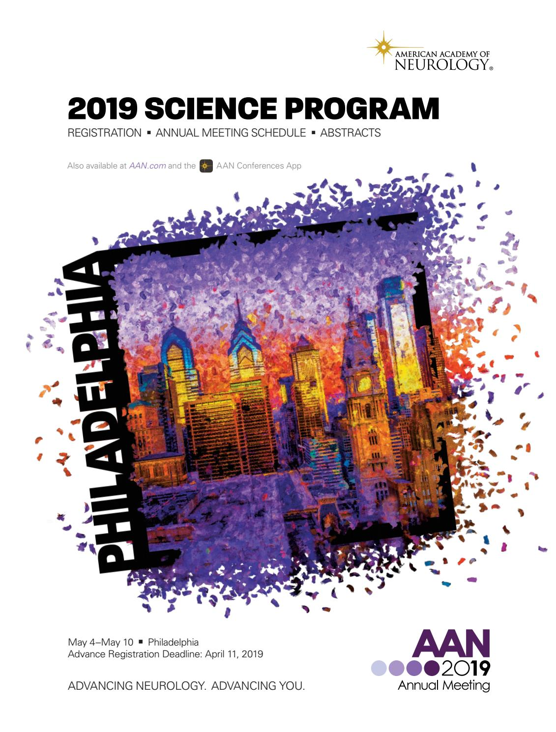 2019 Science Program By American Academy Of Neurology Issuu