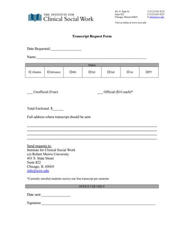 Transcript Request Form by ICSW - issuu