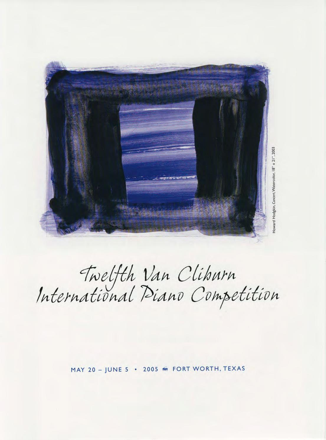 Rosali Bremen Twelfth Van Cliburn International Piano Competition Program Book