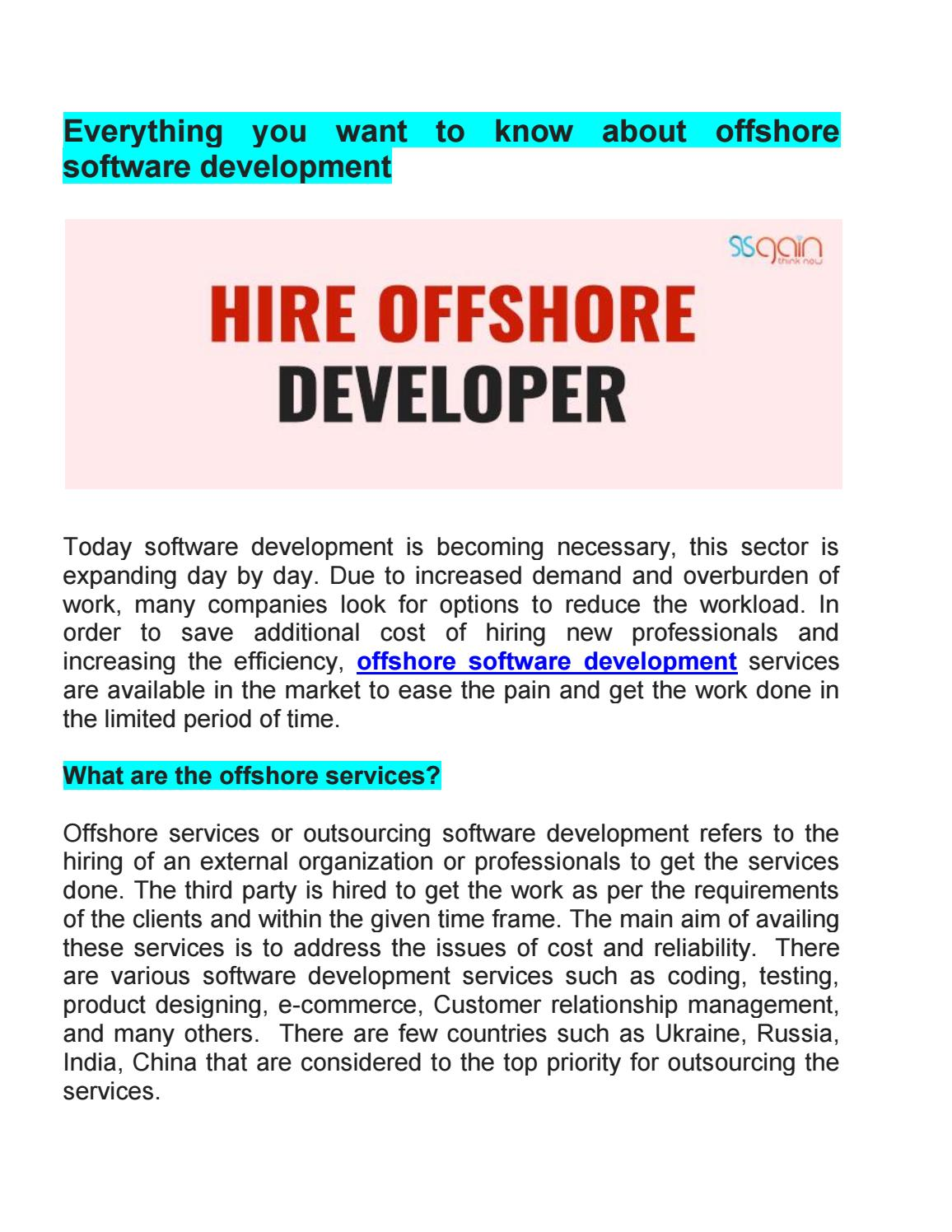 Software Developer Companies In Everything You Want To Know About Offshore Software Development