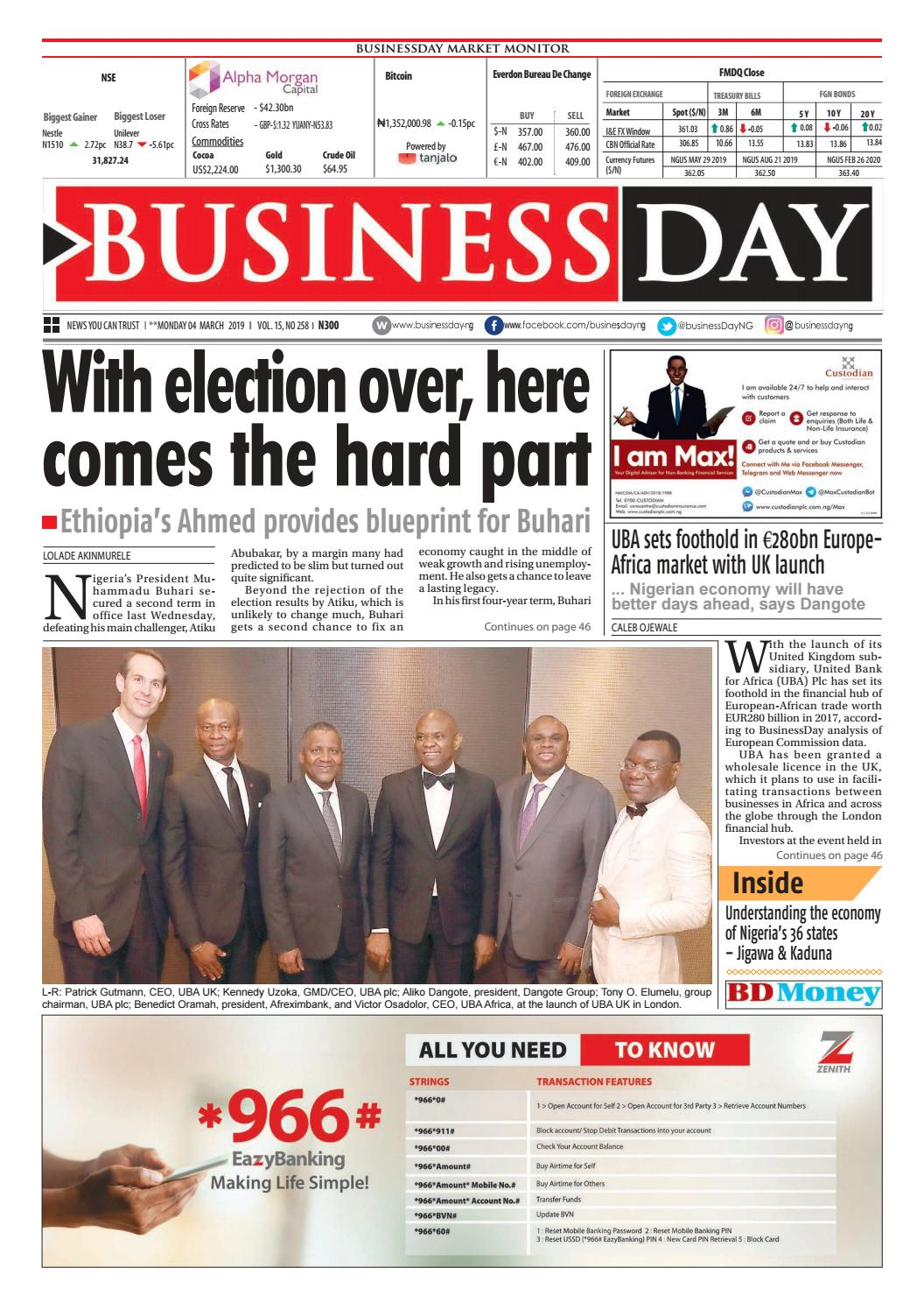 Zobo Travel System Weather Shield Businessday 04 Mar 2019 By Businessday Issuu