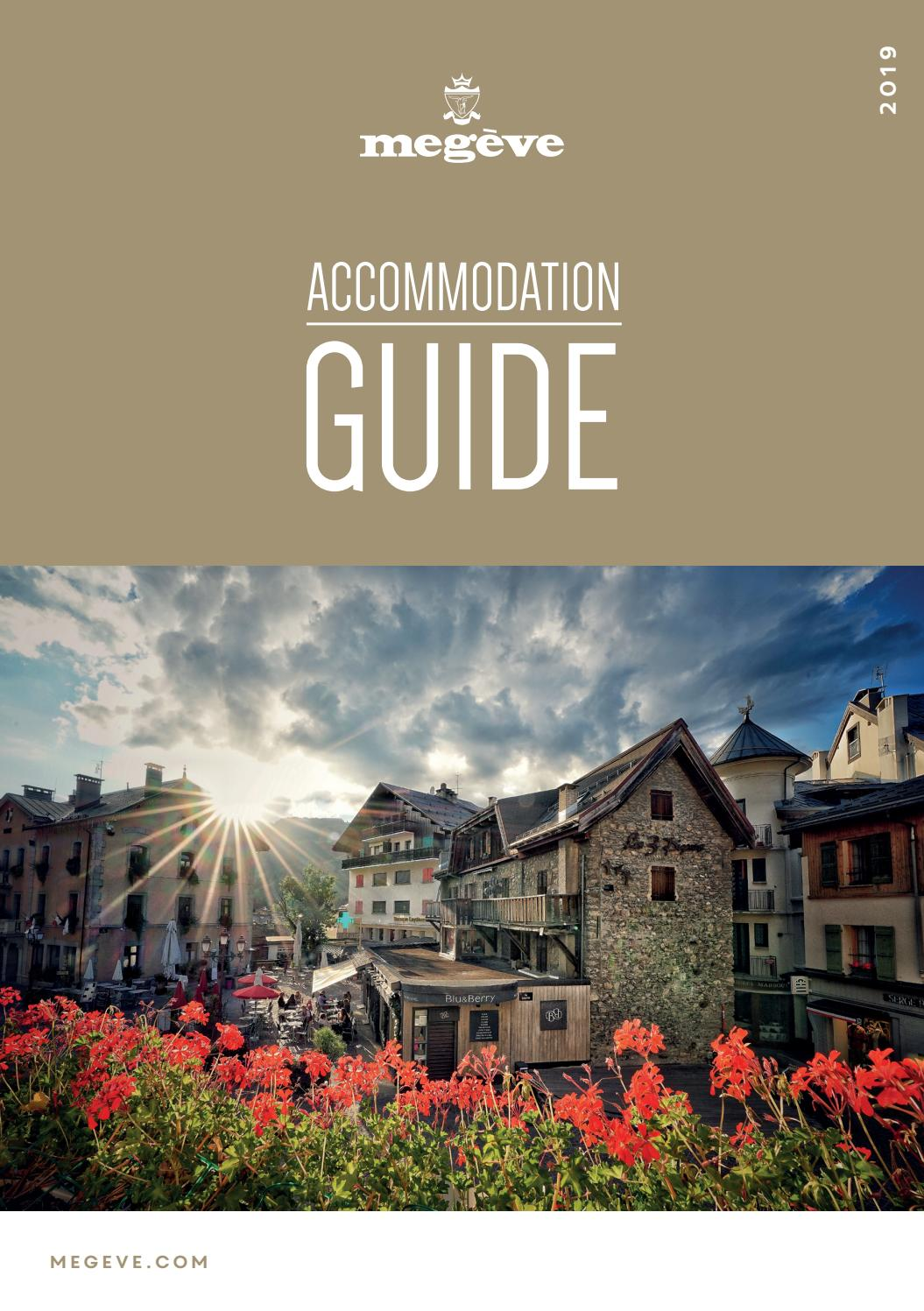 Office Tourisme Megeve Accommodation Guide Megève 2019