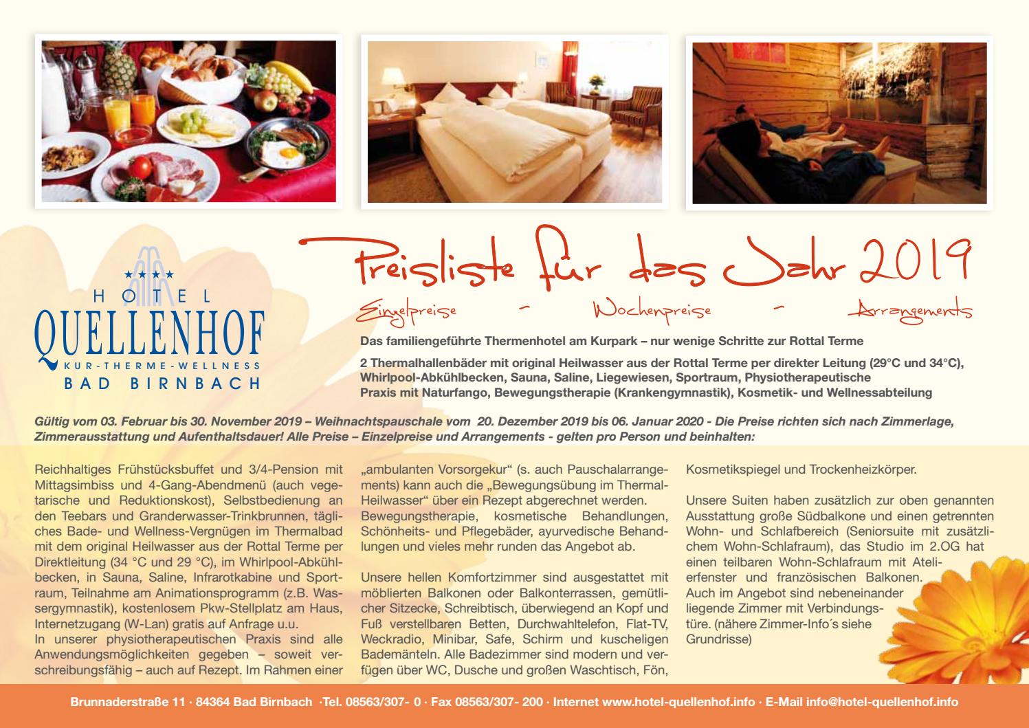 Wellness Bad Birnbach Preisliste Hotel Quellenhof By E Ventis Gmbh Issuu