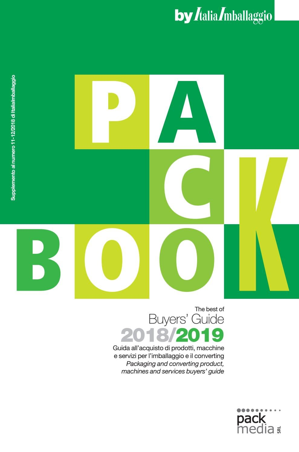 Peso Specifico Tappeto D'usura Packbook 2018 2019