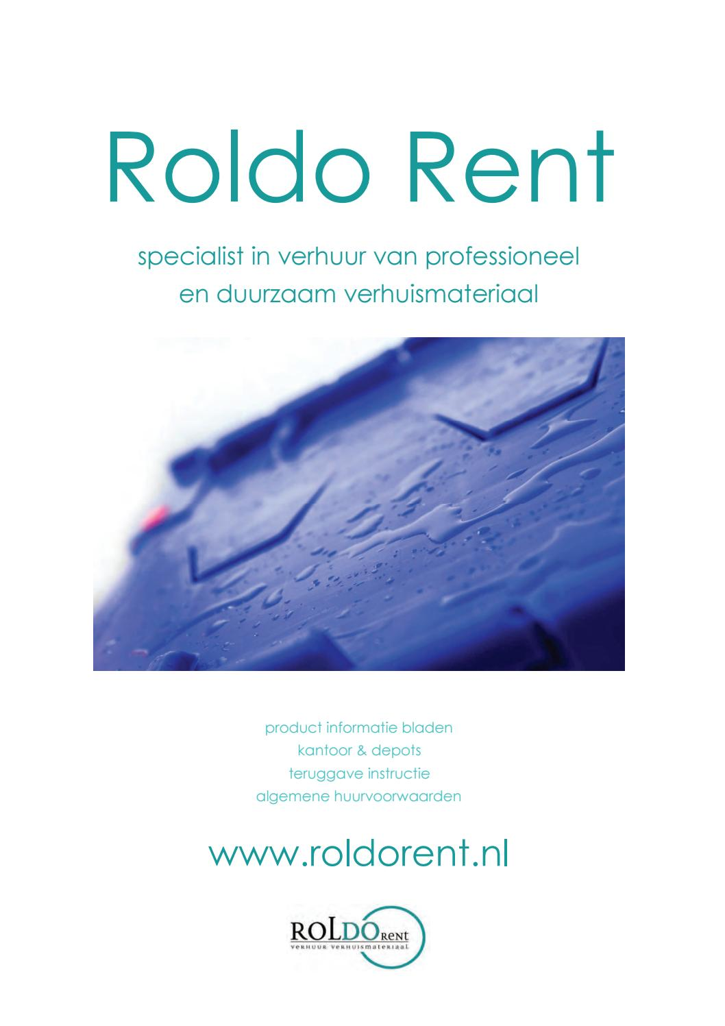 Hondje Verhuizen Digitale Brochure Roldo Rent Bv By Roldo Rent Issuu